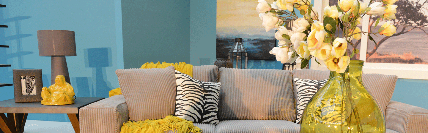 Yellow and Blue Living Room